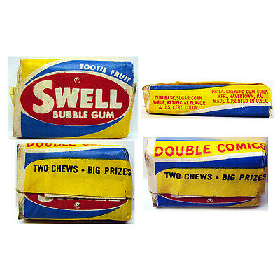 1950's Swell Bubble Gum With Comic Unopened Double Comics