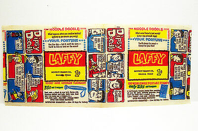 Rare 1960's Laffy Featuring Dipsy Doodle Wax Comic Novelty Peanut Co. Dallas TX