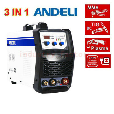 3In1 Welding Machine Plasma Cutter MMA TIG WIG IGBT Welder LED Display 220V NEW