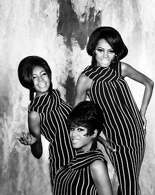 THE SUPREMES Glossy 8X10 Photo Diana Ross Print Portrait Music Poster