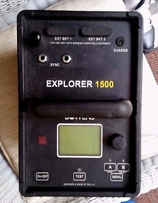 BOWENS Explorer 1500 Battery powered flash generator READ