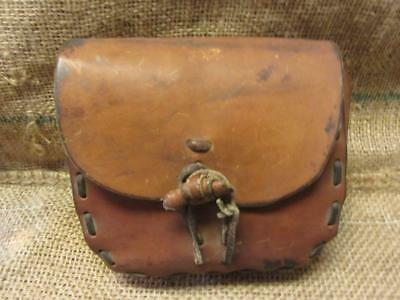 Vintage Leather Hunting Bag Satchel Pouch > Antique Horse Western Saddle 9773