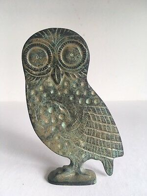 Beautiful Ancient Etruscan Replica Owl Figurine Statue Tarquinia Italy