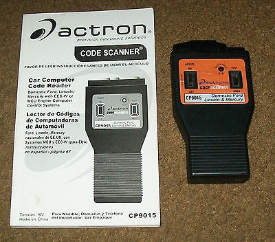 actron cp9015 code scanner for ford lincoln mercury 021467090151 rh picclick co uk Actron Trouble Codes Actron Vehicle Codes