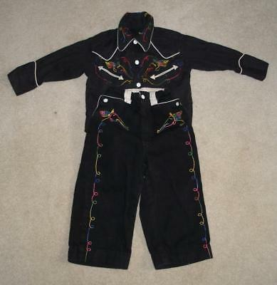 Vintage TEXSON Boy's Western Embroidered SHIRT & Pants Cowboy Rodeo