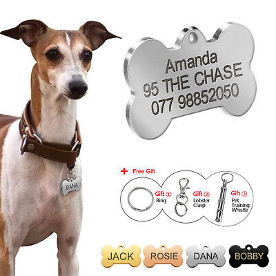 Bone Shape Custom Dog Tag Personalized Pet Name Tags Free Engraving Nameplate
