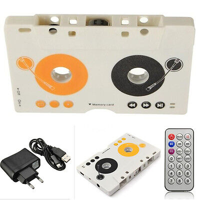 Car Auto Telecontrol Tape Cassette SD MP3 Player Audio Adapter Kit with Earphone