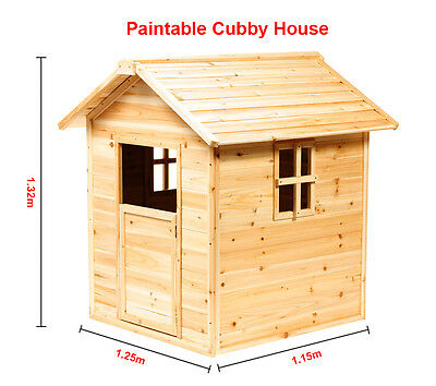 Kids Paintable Wooden Cubby House