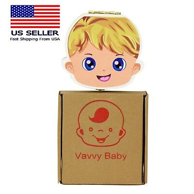 VAVVY BABY Tooth Box for baby milk teeth -Tooth Fairy Box- Baby Boy blonde