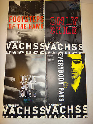 Lot of 4 Andrew Vachss Thrillers - 'Dead & Gone' 'Everybody Pays' and More (LN)