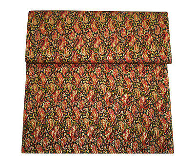 Paisley Floral Pattern Dress Fabric 5Yard mix Fabric Silk Fabric with Gold print