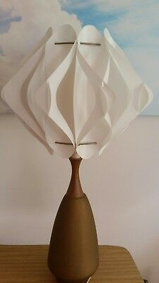 Vintage 60s lampbase and shade
