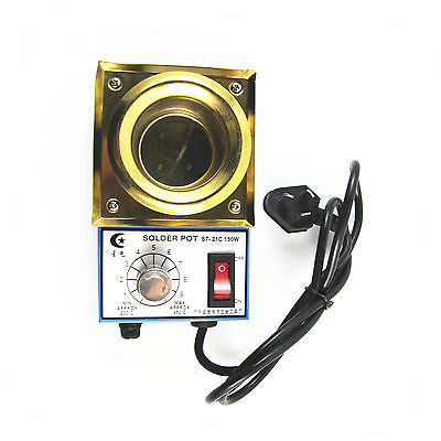 220V Hot Solder Pot Soldering Desoldering Bath 50mm 450 Degree Max