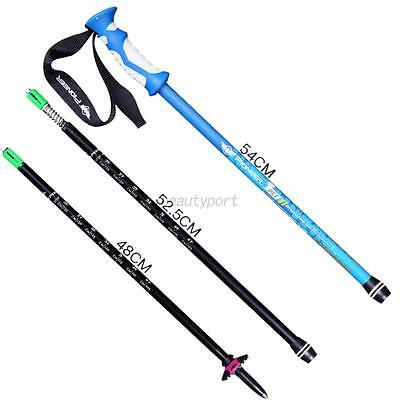 Carbon Fibre Alpenstock Anti Shock Adjusted Walking Trekking Hiking Stick Pole