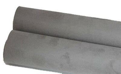 upholstery faux suede adhesive back 1yd car interior trim home fabric DIY - grey