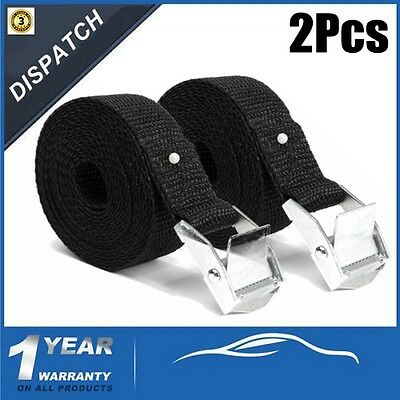 2 x Car Cargo Lashing luggage Tie-Down Endless Strap Cam Buckle Ratchet Truck