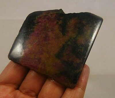 340 Cts. 100% Natural Free Form Rhodonite Slice Rough Specimen (NG748)