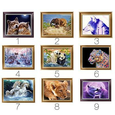 DIY 5D Diamond Painting Flower Animals Embroidery Cross Crafts Stitch Home Decor