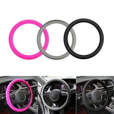 Soft Silicone Car Steering Wheel Cover Glove Sleeve Comfortable Grip 36-40cm