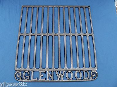 "Large Antique Glenwood Cast Iron Oven Rack 19"" X 17.75 Inches Clean & Nice"