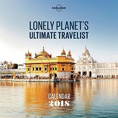 Lonely Planet Ultimate Travel Square Wall Calendar 2018, NEW, Free Shipping