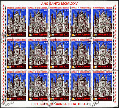 "Equatorial Guinea 1974, 5e ""Ano Santo"" Pope Paul VI Cto Used Full Sheet #V5649"