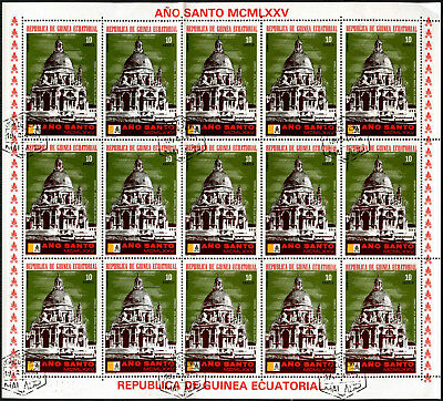 "Equatorial Guinea 1974, 10e ""Ano Santo"" Pope Paul VI Cto Used Full Sheet #V5651"