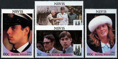 Nevis 1986 SG#406-409 Royal Wedding MNH Set #D54583