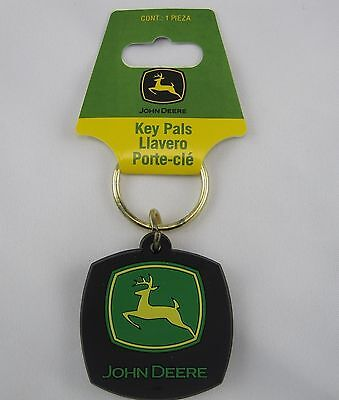 John Deere  Rubberized Vinyl  Key Chain  Tractor  New  K0017