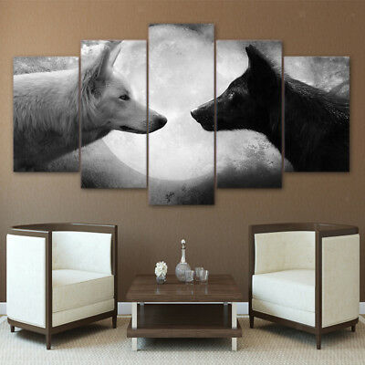 Modern Wall Hanging Canvas Picture Art Print Painting Home Decor Wolf-S