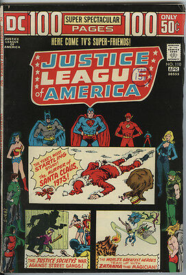 Justice League America JLA Issue 110 From 1974 DC 100pg Giant Scarce issue