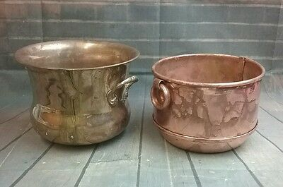 Round Planter Flower Pots - Brass Made in India  & Copper Made in Denmark