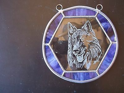 Belgian Sheepdog- Hand engraved designer panel by Ingrid Jonsson