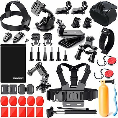 Camera Accessories Set Kit Pack for GoPro HERO 6/5/ 4/3+/3/2/1 Outdoor Sports