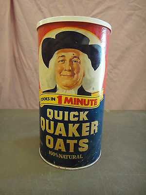 vintage Quaker Oats cardboards container can