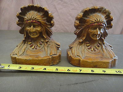 American indian bust bookends