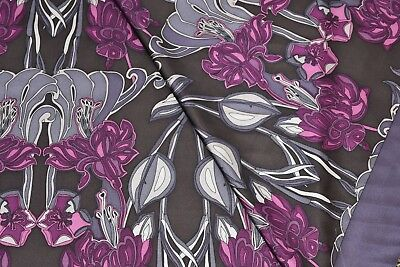 FABULOUS Art Nouveau Floral Panel Print on Silk!! DISCOUNTED DAMAGED PANEL