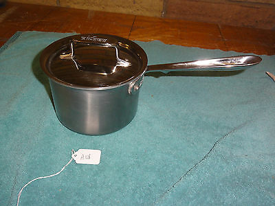 All Clad Stainless With D5 2 Qt Sauce Pan & Lid