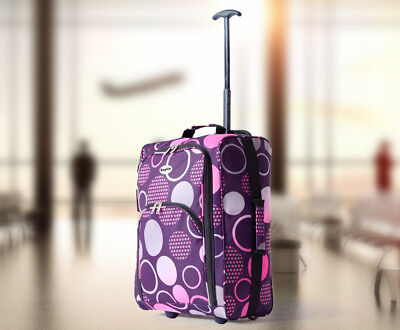 Wheeled Cabin Travel Bag Pattern Lightweight Suitcase Case Hand Luggage Trolley