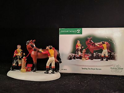 "Dept 56 Dickens Village "" TENDING THE ROYAL HORSES "" # 58813 MIB RARE"