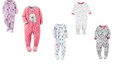 New Carter's Little Girls' Toddler Footed Pajamas (VARIETY)