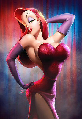 "Jessica Rabbit 7"" x 5"" Animation Photo Print By Stanley Lau   Roger Rabbit"