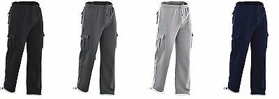 New North Pole and More Men'S Cargo Sweat Pants Track Fleece Heavy Weight M-2XL