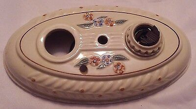 Antique Vintage Art Deco Ceramic Ceiling Wall Electrical Light Fixture 1930's
