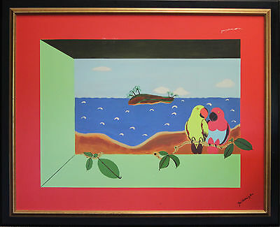 """Two Palm Beach Parrots"" 1 Giclee"