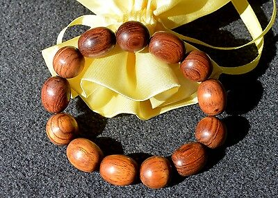 Chinese Huanghuali Rosewood Beads Bracelet