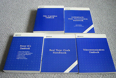National Semiconductor 5 Data Book Set - 1992-1994 Data Acquisition, Interface