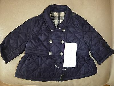 Brand New With Tags Burberry Mini Portree Quilted Jacket Coat 6mths