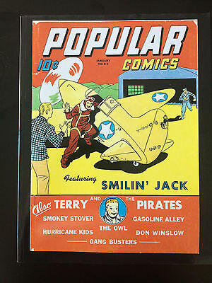 Popular Comics #83 REPRINT EDITION-OWL-TERRY & PIRATES-SMILIN' JACK Jan '43