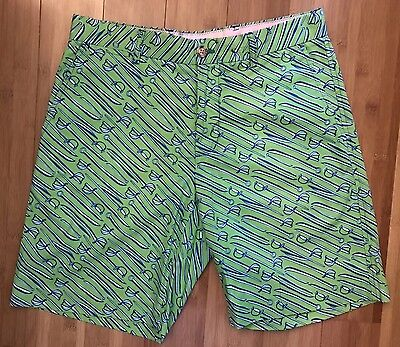 2eafbc64f8 Lilly Pulitzer Fitz Short Size 30 Green Swords Mens Stuff Shorts Pants Men's